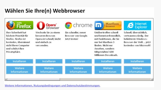 Infografik / Wählen Sie Ihren Webbrowser / http://www.browserchoice.eu/