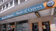 Eine Filiale der Bank of Cyprus.