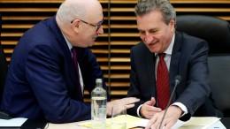 Oettinger warnt vor Kabinettsumbildung