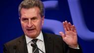 Der deutsche EU-Kommissar Günther Oettinger