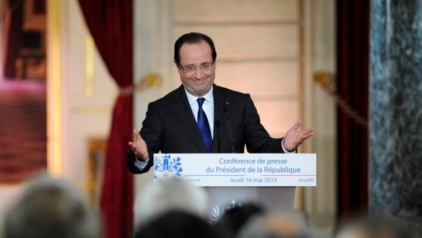 French President holds second press conference