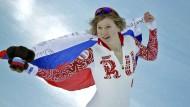 Olga Fatkulina gewann in Sotschi Eisschnelllauf Silber - jetzt wurde sie wegen Dopings lebenslang gesperrt