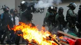 Neue Ausschreitungen bei Protesten in Hongkong