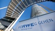 Der sogenannte RWE Tower, Zentrale des Energiekonzerns RWE in Essen