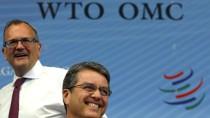 Haben gut lachen: WTO-Generaldirektor Roberto Azevedo (rechts) und Ketih Rockwell vom Komitee der Organisation