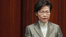Lam beschuldigt ausländische Regierungen