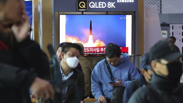 Nordkorea feuert Rakete ab