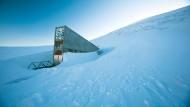 Der Eingang zur internationalen Genbank Svalbard Global Seed Vault in der Nähe von Longyearbyen auf Spitzbergen.