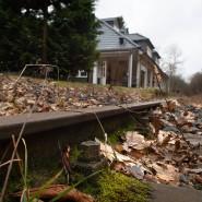 """Liegt brach: die Aartalbahnstrecke am Bahnhof """"Eiserne Hand"""""""