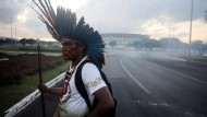 Anti-WM-Proteste in Brasilia