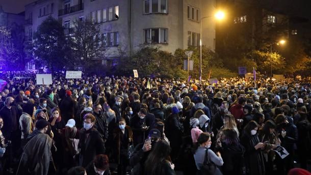 Proteste gegen Abtreibungsverbot in Polen