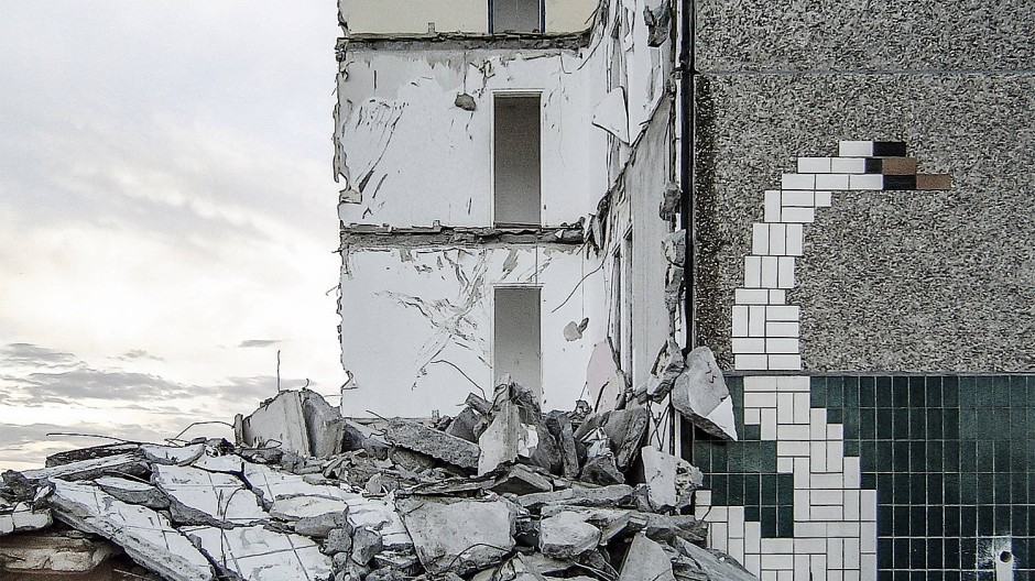 Das Keramikbild in Eisenhüttenstadt ist dem Stadtumbau Ost zum Opfer gefallen.