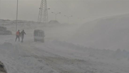 Algerien versinkt im Schnee