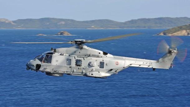 Mangelhafter Hubschrauber im Einsatz