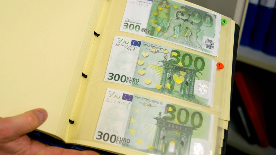 300 Euro Note Abnehmer