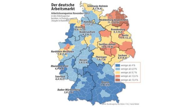 Infografik / Der deutsche Arbeitsmarkt
