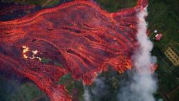 Die Erde auf Hawaii hört nicht auf zu brennen