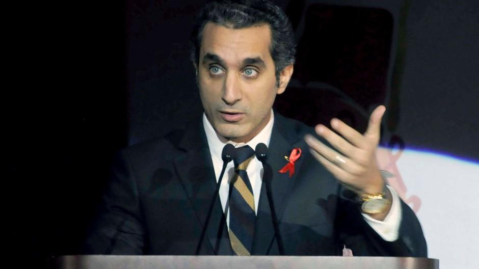 Von Islamisten bedroht, kann trotzdem noch lachen: Bassem Youssif