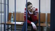 Nadija Sawtschenko am Mittwoch im Gericht in Moskau