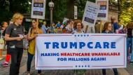 Protest gegen Trumps Gesundheitsreform im Juni in New York