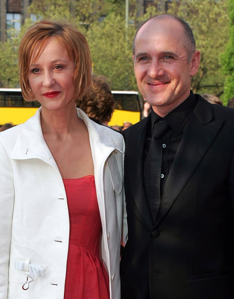 Susanne Lothar mit ihrem 2007 verstorbenen Ehemann Ulrich Mühe, Bild von 2006