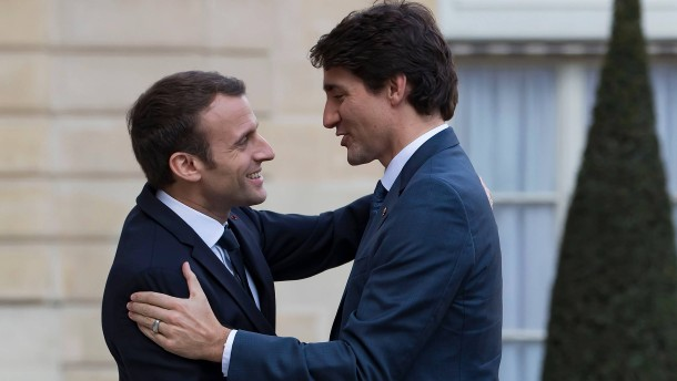 Die innige Freundschaft von Macron und Trudeau