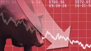 Dow Jones fällt zeitweise unter 10.000 Punkte