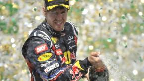 Kein Grund für Trübsal: Sebastian Vettel kann mit dem zweiten Platz gut leben