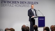 """F.A.Z.-Geschäftsführer Thomas Lindner am Donnerstag beim F.A.Z.-Kongress """"Zwischen den Zeilen"""" in Frankfurt"""