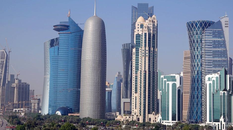 Die West Bay von Doha