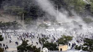 Viele Tote bei Explosion auf Trauerfeier