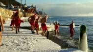 Mit Badesachen in Sibirien laufen gehen