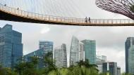 In luftiger Höhe: Singapurs Staatsfonds Temasek ist zu einem der größten Vermögensverwalter der Welt geworden. (Symbolfoto)