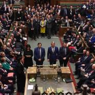Abgeordnete im britischen Unterhaus bei der Abstimmung vergangenen Dienstag