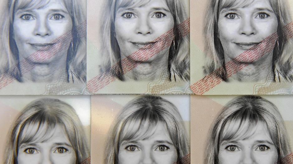 Passfotos von Erika Mustermann