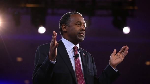 Republikaner Carson will Trump unterstützen