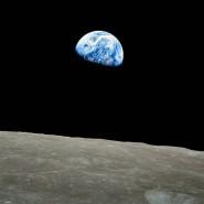 Ein ganz besonderer Blick: Die Erde vom Mond aus betrachtet.