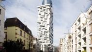 Nur eine Kapitalanlage? Der Henninger Turm bleibe größtenteils nachts dunkel, sagt Mike Josef.