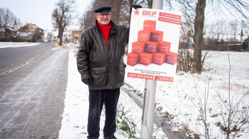 Überzeugungstäter: Arno Grieger ist DKP-Mitglied und seit 1973 Reinheimer Stadtverordneter.