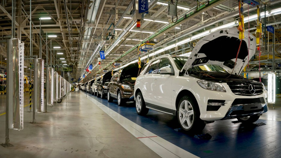 Eine Fertigungslinie im Werk des Autobauers Daimler im amerikanischen Tuscaloosa