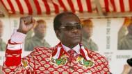 """Er nannte sich einen """"Hitler dieser Zeit"""": Robert Mugabe im Jahr 2008"""