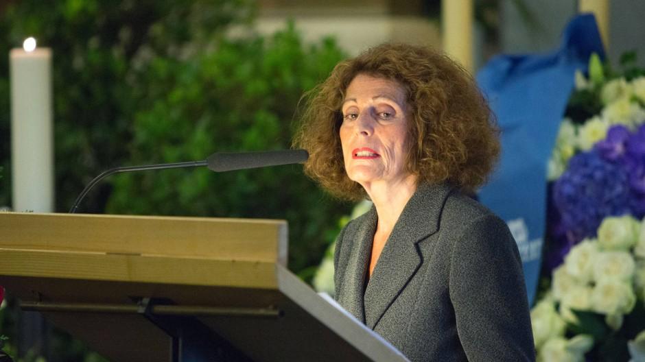 Rachel Salamander, Leiterin des F.A.Z-Literaturforums, auf der Trauerfeier für Marcel Reich-Ranicki.