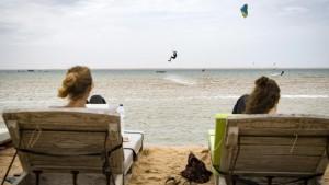 Früheres Kriegsgebiet jetzt Kitesurf-Paradies