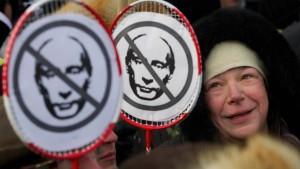 Hunderttausende gehen gegen Putin auf die Straße