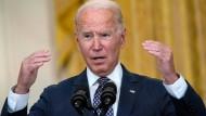 Joe Biden am Freitag im Weißen Haus