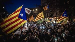 Zehntausende für katalanische Unabhängigkeitsanführer