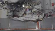 Schwere Schäden USS Fitzgerald