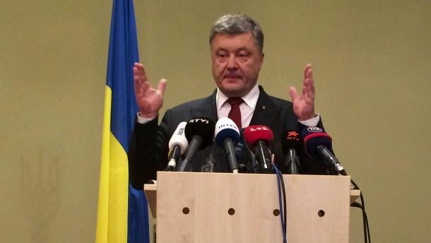 Poroschenko: Einigung auf Polizeimission in Ukraine