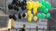 Farbige Luftballons am Mittwoch in Berlin: Eine Jamaika-Koalition auf Bundesebene wäre ein Experiment – mit vielen Chancen, hoffen manche