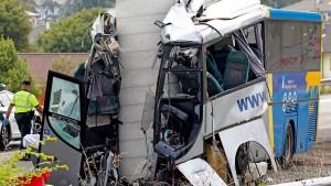 Fünf Tote bei Busunglück in Spanien
